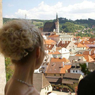 Чеський Крумлов, Весілля в Чехії, Весільна церемонія в Чехії, весілля за кордоном, весільна церемонія за кордоном