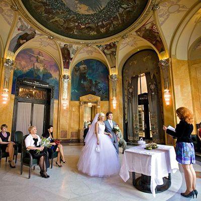 Весілля в празькому муніципальному домі, Весілля в Чехії, Весільна церемонія в Чехії, весілля за кордоном, весільна церемонія за кордоном