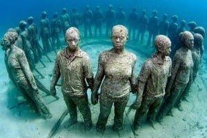 Підводний музей в Канкуні, Мексика