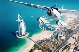 Політ на гідроплані. Дубай, Абу-Дабі